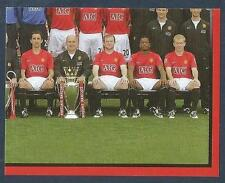 PANINI MANCHESTER UNITED 2008/09 #005-TEAM PHOTO-BOTTOM RIGHT