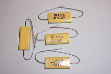 0.22uF 400V Axial Polyester Capacitors  Siemens VALVE HIFI Qty 4 NOS