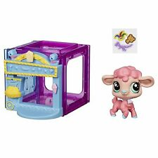 Littlest Pet Shop Mini Estilo Set con #4024 Wanda Woolsey figura de Cordero (B2895)