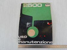MANUALE ORIGINALE USO MANUTENZIONE CARRARO 2500 TRATTORE