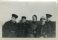 PHOTO ANCIENNE - VINTAGE SNAPSHOT - MILITAIRE UNIFORME AIR POLICE POMPIER