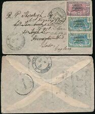 GB 1924 BRITISH FOREIGN SAILORS SOCIETY ENVELOPE + PERFIN
