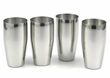 4-piece Brilliant Stainless Steel Tumblers / (24 Oz) Drinking Glass Set - Qualit