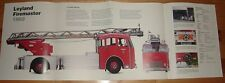 HUGE! LEYLAND FIREMASTER 1960 FIRE ENGINE POSTER picture print truck