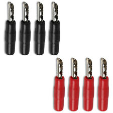 Banana Plug Socket Male Female 4mm Speaker Connector Black Red x 4 Pairs