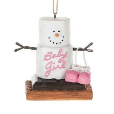 2016 S'mores Baby Girl Pink Pregnancy  Christmas Ornament Holiday Gift 121359