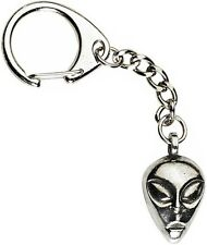 Alien Exra Terrestrial Keyring  -  Beautiful Pewter Keychain