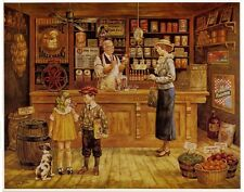 THE GENERAL STORE: Nostalgic Art by Lee Dubin 10x8 In.