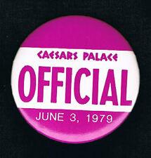 RARE 1979 Championship Carlos Zarate vs Lupe Pintor boxing pinback button pin