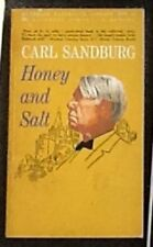 Honey and Salt by Carl Sandburg Poems Poetry 1963 Paperback Edition Free Ship