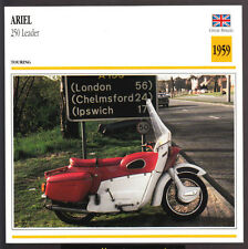 1959 Ariel 250 Leader (249cc) Scooter Moped Motorcycle Photo Spec Sheet Card