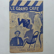 Partition le grand café CHARLES TRENET Illustration GUY GERARD NOEL