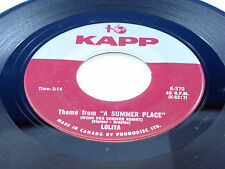 "LOLITA - Theme From ""A Summer Place"" / Cowboy Jimmy Joe - 1961 VG++ CANADA 45"