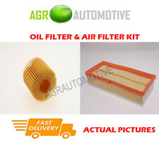 DIESEL SERVICE KIT OIL AIR FILTER FOR TOYOTA IQ 1.4 90 BHP 2008-