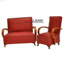 1960's living room set 2pcs Quality Dollhouse miniature 1:12 Dbl seat sofa chair