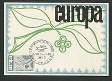 FRANCE MK 1965 EUROPA CEPT IVA MUNICH MAXIMUMKARTE CARTE MAXIMUM CARD MC d5318