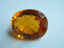 HUGE 46.44 ct VVS HONEY ORANGE MADEIRA CITRINE OVAL CHECKERBOARD -GENUINE