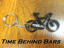 TIME BEHIND BARS TBB BIKE BICYCLE CYCLING BIKING CYCLIST KEY CHAIN BOTTLE OPENER