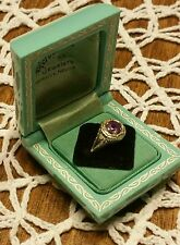 VINTAGE ANTIQUE EDWARDIAN/VICTORIAN  FILIGREE WHITE GOLD W/AMETHYST RING COMES