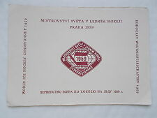 World Ice Hockey Championship 1959 Stamps In Official Folder