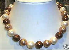 """New 8mm South Sea Multicolor Shell Pearl Necklace 18"""" AAA"""