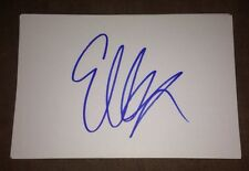 ELLA HENDERSON SIGNED 6X4 WHITE CARD POP MUSIC THE X FACTOR 100% GENUINE