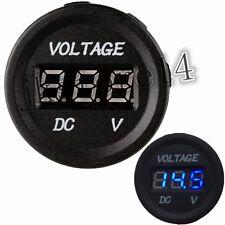 12 Volt Car Boat Blue LED Digital Display Panel Voltmeter Waterproof Gauge/Meter