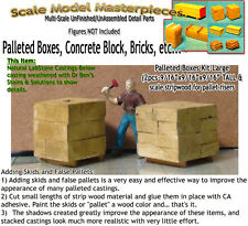Palleted Boxes/Bricks-Lg (2pcs)Scale Model Masterpieces HO Fine Craftsman Detail