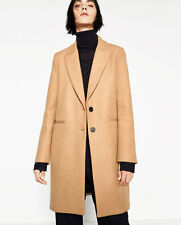 NEW ZARA CAMEL MASCULINE COAT FRONT BUTTON SIZE S REF. 7949/644 SOLD OUT