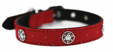 """Rosewood Christmas Xmas Winter Collar And Lead Set For Dogs Small Collar 8-12"""""""