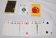 Vintage 1960's Hippie Flower Power Snail Playing Cards Game Congress US Playing