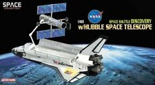 56259 Dragon Diecast Model Space Shuttle Discovery w/Hubble Telescope1:400 Scale