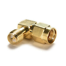 1PC Adapter 90° RP.SMA male jack to RP.SMA female plug connector right angle