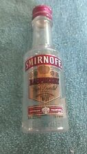 BOTTLE - SMIRNOFF RASPBERRY MINI 50 ML. - EMPTY - PLASTIC