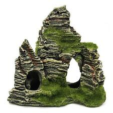 Resin Aquarium Rockery Ornament Mountain Cave Stone View Fish Tank Decoration