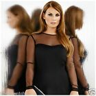 ULTIMATE LONG MESH SLEEVE SEAMLESS TOP SWEETHEART NECKLINE BLACK WHITE CORAL