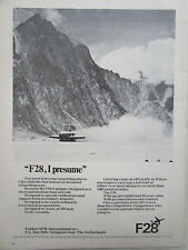 5/1972 PUB FOKKER AIRCRAFT HOLLAND FOKKER F28 FELLOWSHIP ORIGINAL AD