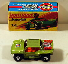 DTE MATCHBOX SUPERFAST 13 BAJA BUGGY WITH POLICE HOOD LABEL NIOB