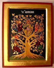 *** IKONE Jesus Christus mit 12 Heilige Apostel Ikonen Icon Weinstock Lebensbaum