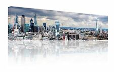 "PANORAMIC 10 ""X 30"" London Skyline Wall Art Canvas Picture stampa libera P & P"