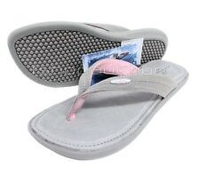 Oakley Portola Fawn Grey Size 11 US 41 Womens Girls Beach Leather Sandals Thongs