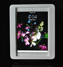 iPad 2/3/4 White Acrylic Security VESA Enclosure w Wall Mount Kit