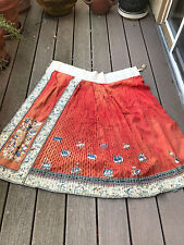 Antique Chinese  embroidery silk skirt 19th century textile