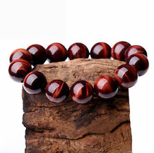 Natural AAA+++ 10mm Red Tiger's eye beads Bracelet Bangle 7.5''