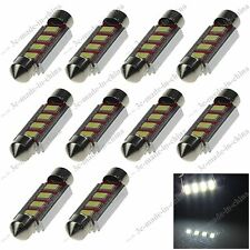 10pcs White 41MM 4 SMD 5630 LED License Plate Light Canbus Error Free Auto 20333
