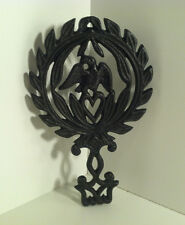 VINTAGE WILTON CAST IRON TRIVET EAGLE DESIGN