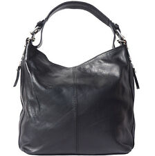 Shoulder Bag Italian Genuine Leather Hand made in Italy Florence 3013 bk