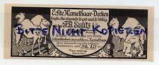 LEIPZIG, Werbung 1913, Strumpfwaren-Fabrik F. B. Eulitz GmbH Kamel-Haar-Decken