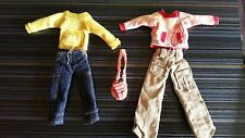 ONLY HEARTS CLUB LOT #Z5 DOLL OUTFITS,  YELLOW TOP, PINK TOP, 2 PANTS, PURSE