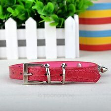 Pet Dog Puppy Leather Rivet Spiked Studded Collar Neck Strap Buckle Adjustable